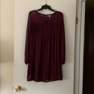 Burgundy Xhilaration Dress